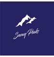 snowy peaks logo mountain emblem vector image