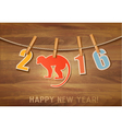 2016 with a goat on wooden background vector image vector image