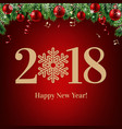 2018 happy new year postcard vector image