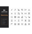 30 high quality energy line icons vector image vector image
