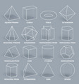 abstract 3d math geometric outline shapes vector image vector image