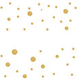 abstract gold glitter background with polka dot vector image vector image