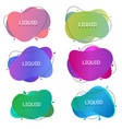 abstract liquid banners vector image vector image