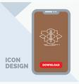 algorithm design method model process line icon vector image
