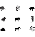 Animal icons 3 vector image vector image