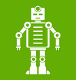 artificial intelligence robot icon green vector image vector image