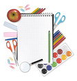 back to school notepad with s vector image vector image