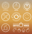 bakery and pastry emblems vector image vector image