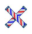 Barbers Pole Crossed Retro vector image vector image