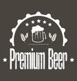 beer logo template design vector image vector image