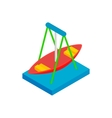 Boat carousel isometric 3d icon vector image vector image