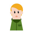 boy cartoon profile vector image vector image