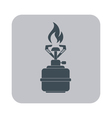 Camping stove icon Flat icon isolated vector image