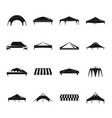 canopy shed overhang icons set simple style vector image