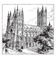 canterbury cathedral vintage vector image vector image