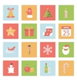 Christmas and New Year flat icons set vector image vector image