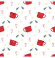 christmas cup pattern vector image vector image