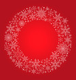 christmas red background with snowflake vector image vector image
