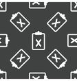 Clipboard with cross pattern vector image vector image