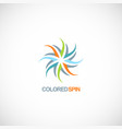 colored spin abstract logo vector image