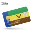 Credit card with Venda flag background for bank vector image vector image