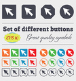 Cursor arrow icon sign Big set of colorful diverse vector image vector image