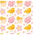 Cute Easter seamless pattern with birds and eggs vector image vector image
