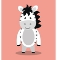 cute zebra isolated icon design vector image vector image