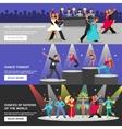 Dance Banner Flat vector image