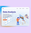 data analysis isometric vector image vector image