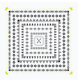 Decorative black tribal border design elements set vector image