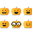 Different helloween pumpkin faces clip-art vector image vector image