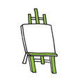 easel cartoon hand drawn style vector image