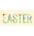 Easter inscription Linear style vector image vector image
