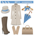 Female Accessories Set 5 vector image vector image