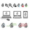 fingerprint icons vector image vector image