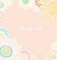floral card with place for your text cute hand vector image vector image
