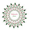 floral wreath invitation wedding or birthday card vector image