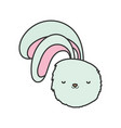 fluffy rabbit head adorable toy icon vector image