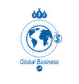 global business and e-business creative logo vector image vector image