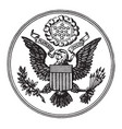 great seal of the united states vintage vector image