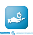 hand holding a fire sign vector image vector image