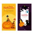 happy halloween celebration set icons vector image vector image