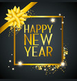 happy new year with ribbon and stars vector image vector image