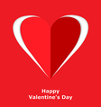 heart cut vector image vector image