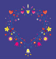 heart shaped ornamental decorative romantic frame vector image vector image