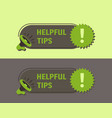 helpful tips megaphone with bubble speech sticker vector image vector image