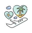 honeymoon rgb color icon vector image vector image