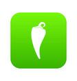 hot chili pepper icon digital green vector image