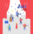 jazz music characters set musical instruments vector image vector image